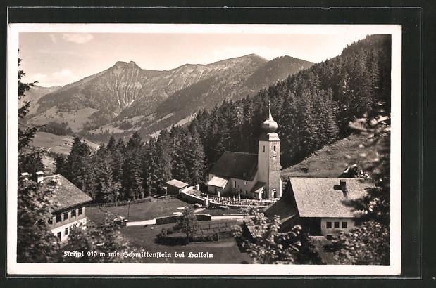AK Krispl, Ortspartie mit Blick auf den Schmittenstein