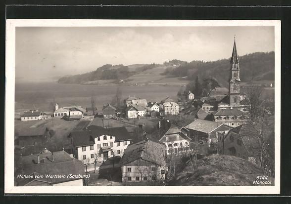AK Mattsee, Ortsansicht vom Wartstein aus