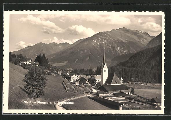 AK Wald im Pinzgau, Ortsansicht mit Kirche