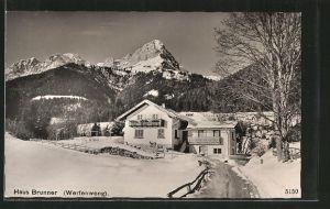 AK Werfenweng, Pension Haus Brunner im Winter