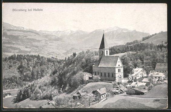 AK Dürnberg, Kirche mit Ortsansicht