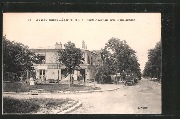 AK Boissy-Saint-Léger, Route Nationale avec le Restaurant