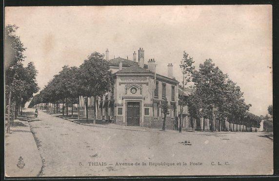 AK Thiais, Avenue de la Republique et la Poste