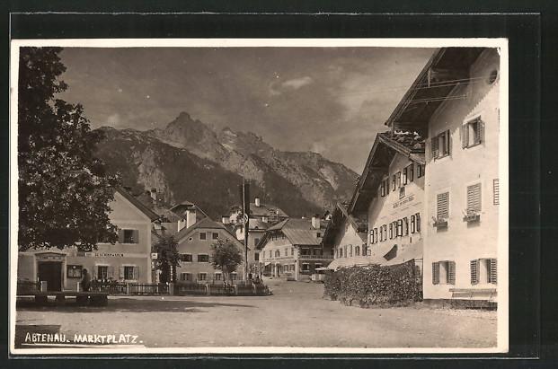 AK Abtenau, Marktplatz mit Gasthaus