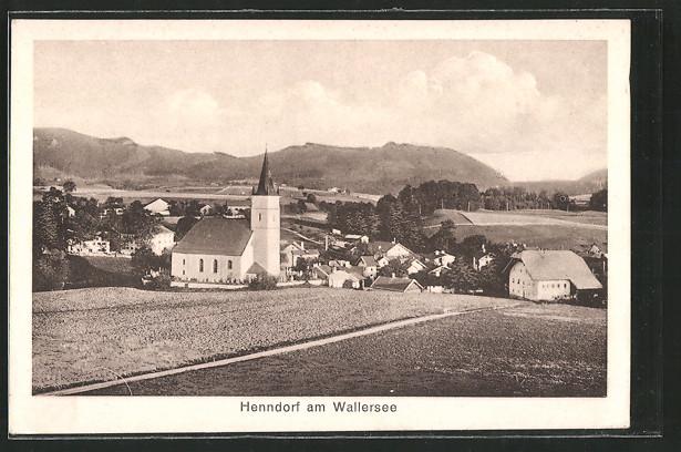 AK Henndorf am Wallersee, Totalansicht