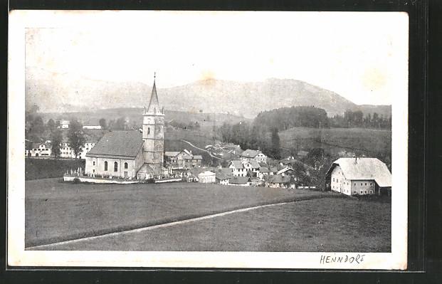 AK Henndorf am Wallersee, Ortsansicht