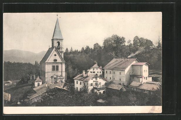 AK Dürnberg, Ortsansicht mit Kirche