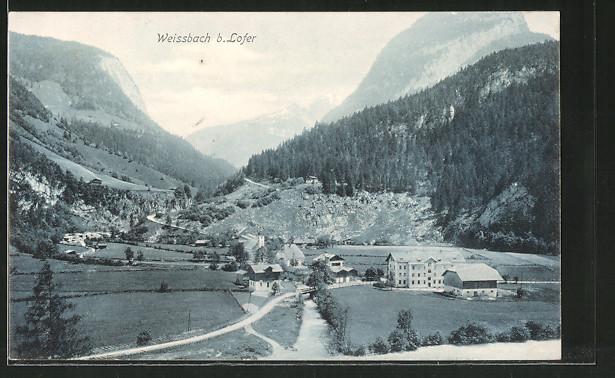 AK Weissbach, Blick zum Ort