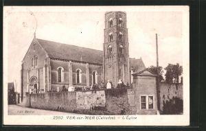 AK Ver-sur-Mer, l'église