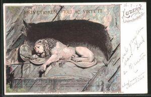 Lithographie Luzern, Löwendenkmal