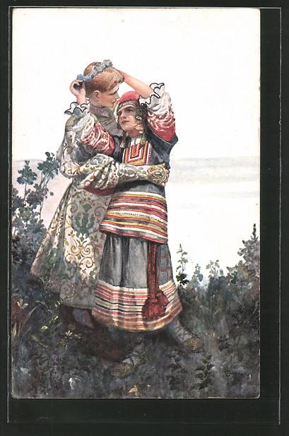 Russisches Liebespaar von Ernst Barlach - Archiv
