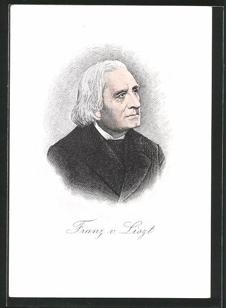 Künstler-AK Franz von Liszt, Portrait des Komponisten