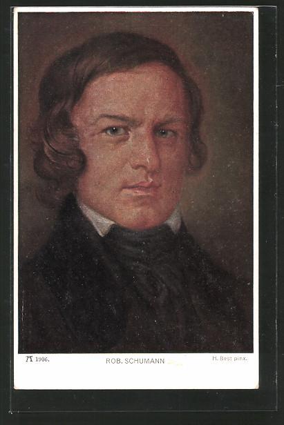 AK Portrait des Komponisten Robert Schumann
