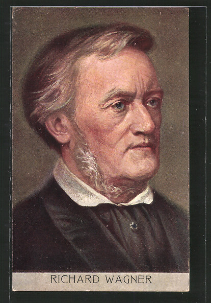 AK Portrait des Komponisten Richard Wagner