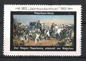 Reklamemarke Befreiungskriege, der Wagen von Napoleon erbeutet vor Waterloo