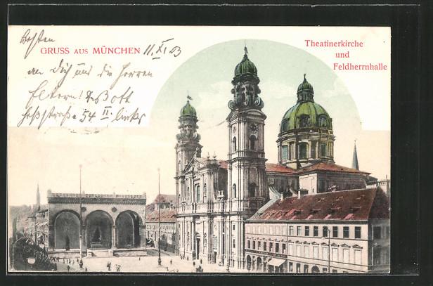 AK München, Odeonsplatz