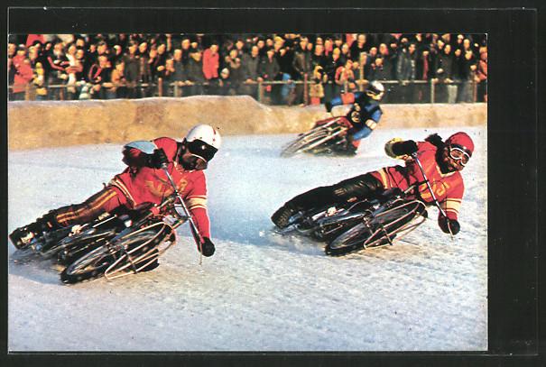 AK Ice Racing, Eis-Speedway, Alexander Cherbakov und Vladimir Chapala, Motorradrennen