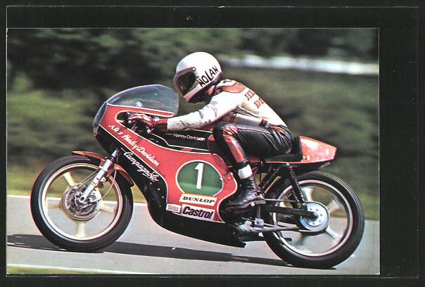 AK Road Racing, Motorradrennfahrer Walter Villa auf Aermacchi-Harley-Davidson