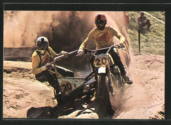 AK Motocross, Seitenwagenrennen, Michal Girardin und Freddy Hartman auf Honda, Motorrad