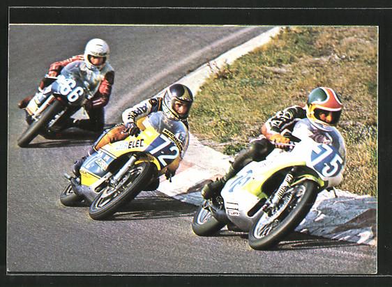 AK Road racing, Motorradrennen, Tom Herron vor Patrick Fernandez und Charlie Williams