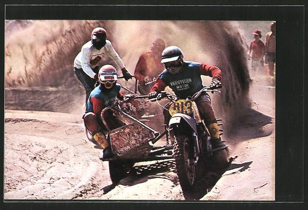 AK Motocross, Seitenwagenrennen, Bens & Martens vor Descheermaeker & Jans, Motorrad