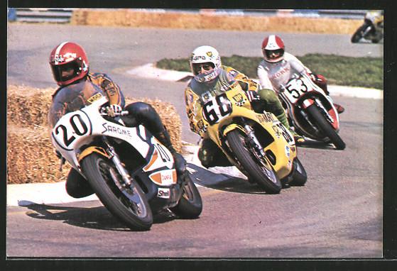 AK Road racing, Motorradrennen, Charles Mortimer vor Jean-Paul Boinet und Kork Ballington