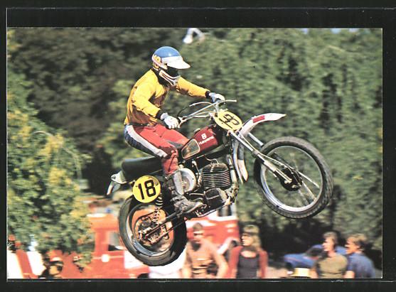 AK Motocross, Motorradrennen Heikki Mikkola auf Husqvarna