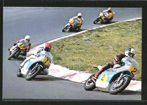 AK Road racing, Motorrennen, Boat van Dulmen und Wil Hartog auf Suzuki vor Charlie Williams