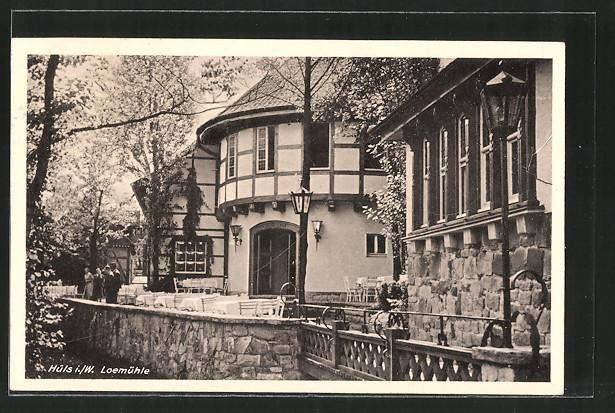 AK Marl-Hüls, Gasthaus Loemühle