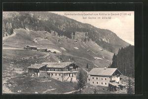 AK Gerlos, Kammerlanders Gasthof zum Kröller in Gmünd