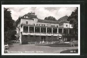 AK Bad Gleichenberg, Partie am Kurhotel