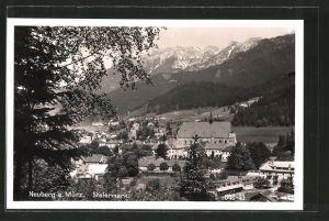 AK Neuberg a. d. Mürz, Ortsansicht aus der Vogelschau