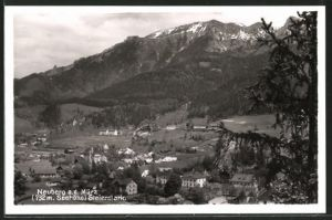 AK Neuberg a.d. Mürz, Totalansicht mit Bergpanorama