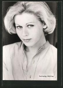 AK Schauspielerin <b>Solveig Müller</b> mit verführerischem Blick, DDR - AK-Schauspielerin-Solveig-Mueller-mit-verfuehrerischem-Blick-DDR