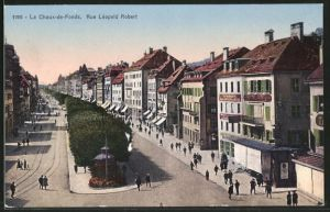 AK Le Chaux-de-Fonds, Rue Léopold Robert
