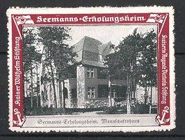 Reklamemarke Kaiserliche Marine, Seemanns-Erholungsheim, Mannschaftshaus Gesamtansicht