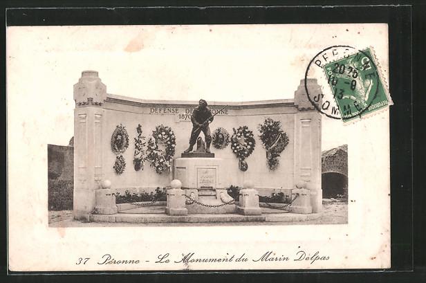 AK Péronne, le monument du Marin Delpas