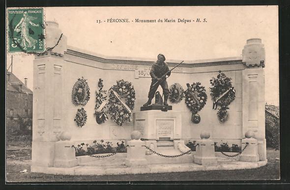 AK Péronne, monument du Marin Delpas