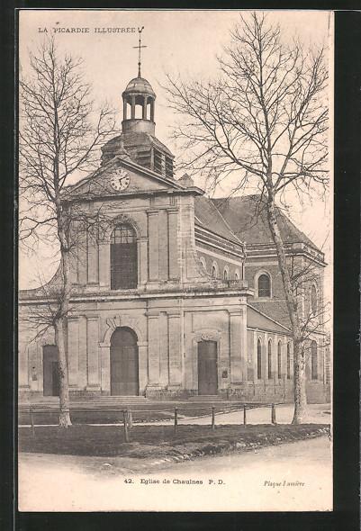 AK Chaulnes, l'église de Chaulnes