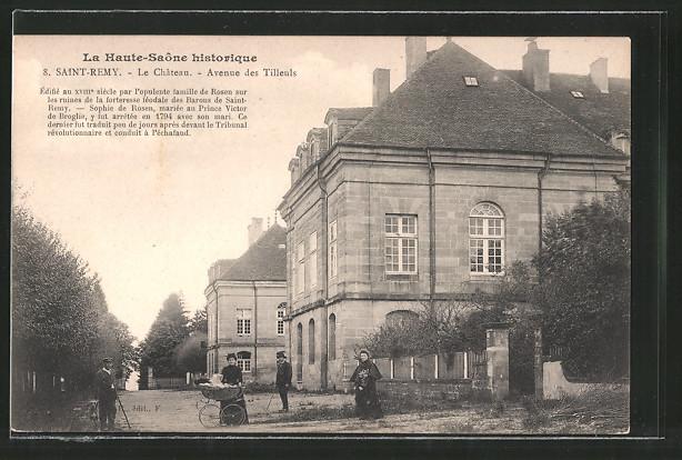 AK Saint-Remy, le château, avenue des Tilleuls