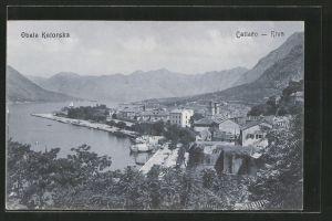 AK Kotor / Cattaro-Riva, Teilansicht aus der Vogelschau