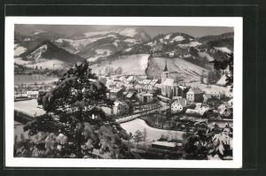 AK Türnitz, Gesamtansicht im Winter