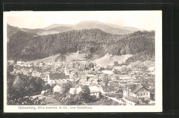 AK Hohenberg, Ortsansicht vom Schlossberg aus
