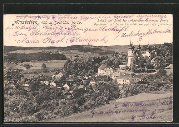AK Artstetten, Schloss & Gruft des verblichenen Erzherzog Franz Ferdinand & dessen Gemahlin Herzogin von Hohenberg