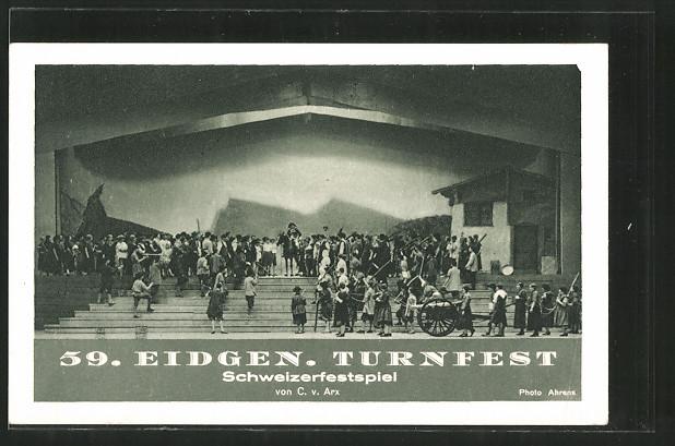 AK Luzern, 59. Eidg. Turnfest 1928, Schweizerfestspiel