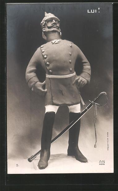 AK Lui!, Karikatur von Kaiser Wilhelm II.