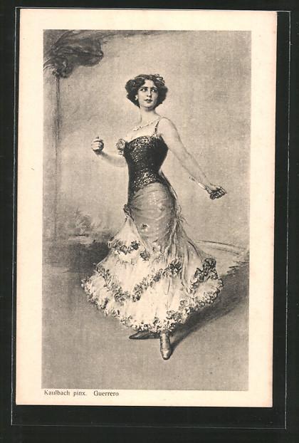 Künstler-AK Hermann Kaulbach: Guerrero, spanische Tänzerin, Flamenco