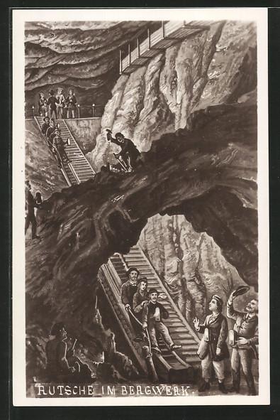 AK Rutsche im Bergwerk