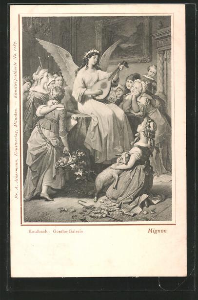 Künstler-AK Hermann Kaulbach: Goethe-Galerie, Mignon