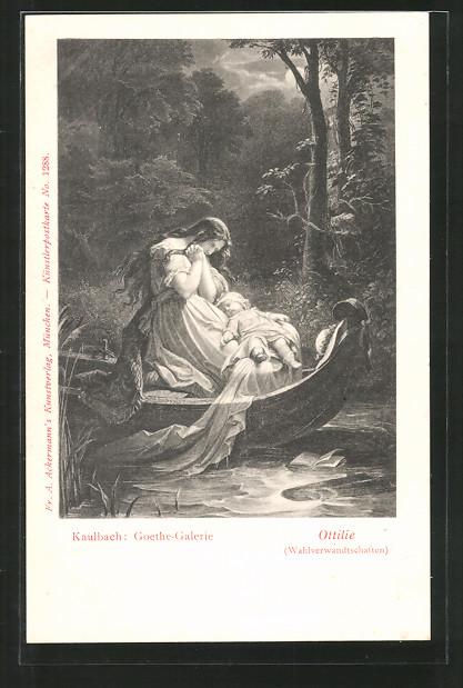 Künstler-AK Hermann Kaulbach: Goethe-Galerie, Ottilie